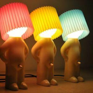 Naughty Boy Mr.P A Little Shy Man Creative Small Night Lights Lamp Decor Gift