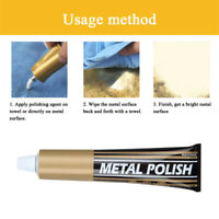 Metal Polish Solve Paste Rust Remover Chrome Cleaner for Car Bicycle Watch HF