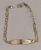 99825667 Armband 925er Silber Panzergleider Gravurplatte 19x0,8cm