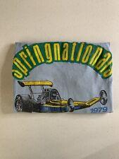 Vintage 1979 NHRA Springnationals Top Fuel Dragster T-Shirt - XLARGE