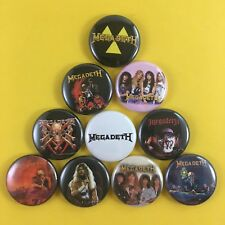 "MEGADETH 1"" PIN BUTTON lot Peace Sells Rust in Peace Dave Mustaine"
