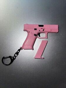 GLOCK PROMOTION 17 KEYCHAIN GUN PISTOL BLACK PLASTIC GEN 5 PINK