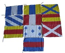 MARINE Navy MILITARY Signal Code FLAG Set - 100% COTTON -Set of Total 10 flags