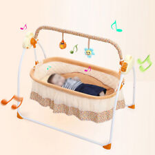 5V Lengthen the Design Electric Auto-Swing Baby Cradle with Anti-skid Foot Pads