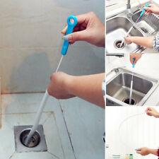 FLEXIBLE SINK DRAIN SNAKE HAIR UNBLOCKER BLOCKED REMOVER CLEANER BRUSH TOOL ROD