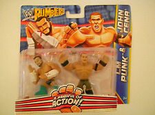 MATTEL WWE RUMBLERS ACTION FIGURES CM PUNK & JOHN CENA
