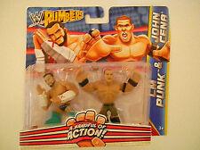 MATTEL WWE RUMBLERS ACTION FIGURES CM PUNK & JOHN CENA