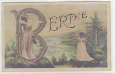 CPA FANTAISIE ALPHABET LETTRE B  Berthe ca1906