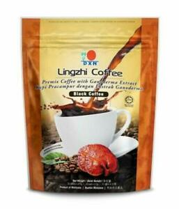 10 Packs DXN Lingzhi Black Coffee Ganoderma Reishi Instant Classic Cafe