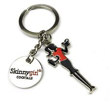 Skinny Girl Cocktails USA Metallo Portachiavi Portachiavi Key Chain Anello