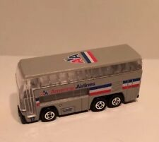 RARE American Airlines 24 Hour Srvc Diecast Double Decker Airport Bus 1/64 Scale