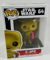New Funko Star Wars: The Force Awakens Pop! C-3PO Vinyl Bobble-Head #64 In-Hand