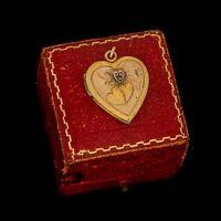 Antique Vintage Deco 12k Gold Filled GF Sweetheart Locket Charm Pendant 3.6g