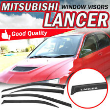 "For 03-06 Mitsubishi Lancer Slim Sun Window Visor Dark Smoke Sun Guard ""Lancer"""