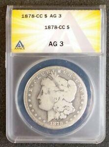 1878-CC ANACS AG3 Morgan Silver Dollar