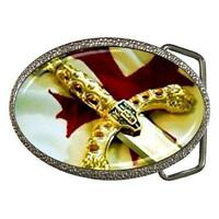 MASONIC SWORD CROSS BELT BUCKLE - NEW!