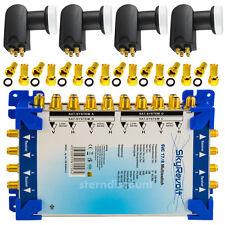 MULTISCHALTER 17/8 + 4x Quattro LNB 0,1 dB SAT-Multiswitch Digital HDTV SKY UHD