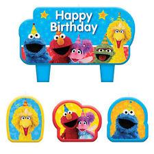 SESAME STREET Stars MINI CANDLE SET (4) ~Birthday Party Supplies Cake Decoration