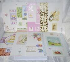 8 x Foiled and Printed A4 Card Blanks with White Envelopes Create & Craft NEW