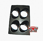 "Camaro/Nova/GTO/  Console Gauge Housing For 2 1/16"" Round Gauges, Black"