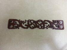 "Brand New Laser Cut Leather Bracelet Brown Snap Closure 8"" #3633 Wrist Flowers"