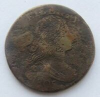 1805 1C BN Draped Bust Large Cent Rare Date VF Detail Corroded Damaged