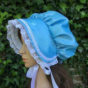 Ladies VICTORIAN REGENCY Bonnet SKY BLUE Oliver Austen Christmas Period style