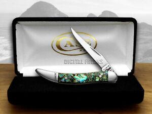 Case xx Tiny Toothpick Knife Genuine Abalone Stainless Pocket Knives 12002