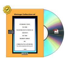 Introduction Massorah Massoreth Massoretic Rabbinic Hebrew Bible  Books On CD
