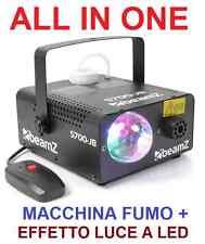 EFFETTO LUCE LED RGB MULTICOLORE + INTEGRATA MACCHINA FUMO SMOG NEBBIA DJ PARTY