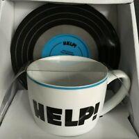 The Beatles Help! Lyric Mug & Saucer Gift Set. Paul McCartney John Lennon.  NIB