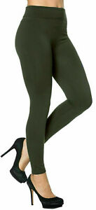 Ladies Thick Winter Thermal Leggings Fleece Lined Warm High Waist Size Uk 8-26