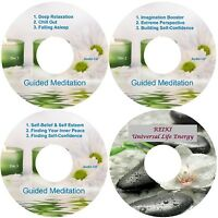 Guided Meditation 9 Sessions & Reiki On 4 CDs In A Case Relaxation Stress Relief