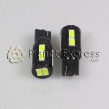 2 x Bombillas 10 LED SMD 5630 Blanco CANBUS T10 W5W Coche posicion 12v o 24v DC