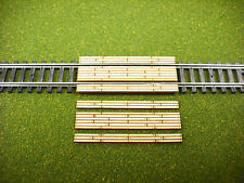 Laser Cut  N Scale Double Lane Timber Grade Crossing 2- Pack