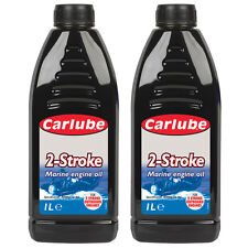 2 x Carlube 2 Stroke Marine Engine Oil For Boats Outboard Engines NMMA TC-W3