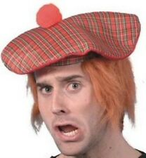 Scots Tartan Hat Ginger Hair Attached Burns Night Scottish Fancy Dress