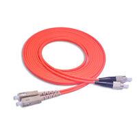 5M Multi-mode Duplex Fiber Optic Cable(62.5/125) SC to FC