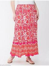 Lane Bryant Plus Size 18/20 2X Sequin Pink Orange Boho Paisley Print Maxi Skirt