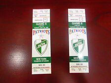 NFL-NEW ENGLAND PATRIOTS VS. N.Y. JETS-NOV.22,1992 FULL TICKET