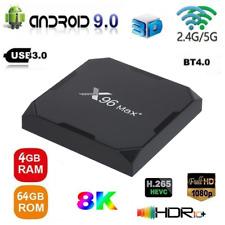 X96 Max Plus 8K S905X3 Quad Core Android 9.0 TV Box 4G/64G BT 5G WiFi Media E6E4