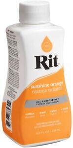 Rit Dye Liquid 8oz - All Purpose Dye - Same Day Shipping (Sunshine Orange)