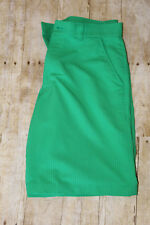 Men's UA Under Armour Forged Green Stripe Golf Shorts Flat Front Woven Size 32