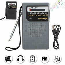 Portable AM FM Radio w/Pointer Sound MP3 Player Rechargeable Recorder Timer