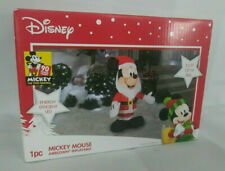 NEW DISNEY CHRISTMAS INFLATABLE MICKEY MOUSE SANTA  3.5FT TALL LED LIGHTED GEMMY