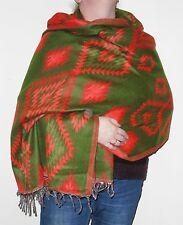 Boho Bandit Aztec Design Reversible Warm Snug Indian Soft Acrylic Shawl (AR6)