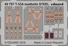 Eduard PE 49797 1/48 Lockheed T-33A Shooting Star seatbelts STEEL Great Wall C