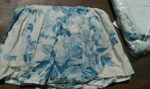 RALPH LAUREN ELSA BLUE FULL SIZE BEDSKIRTS-COTTON BLUE AND WHITE-2 AVAILABLE