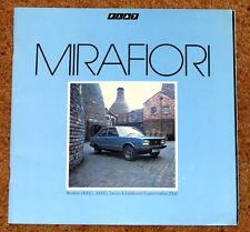 1982 FIAT MIRAFIORI SALES BROCHURE-SUPERMIRAFIORI 2000, 1600cl, 1400cl, ESTATE
