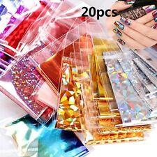 20Pcs Foils Finger DIY Nail Art Sticker Decal Water Transfer Stickers Tips Decor